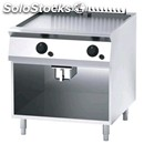 Gas griddle, chrome griddle - mod. fn94ghd - open cupboard - power kw 13,6 -