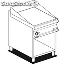 Gas griddle, grooved plate - mod. ftr/76g - open cupboard - dimensions: cm l 60