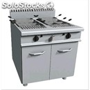 Gas pasta cooker - mod. e9/cpg2v80 - n. 2 tanks lt. 40 + 40 - ambient cupboard