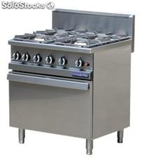 Gas range 4 burners with gas oven gn 2/1