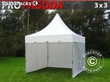 Gazebo Drobrável FleXtents Peak Pagoda, 3x3m Inclui 4 paredes laterais