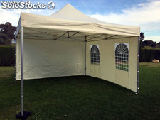 Gazebo plegable 3x3m crema