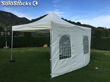 Gazebo plegable 4x4m crema