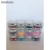 Gel colores purpurina