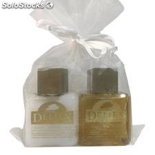 Gel de baño y body milk Deliex para eventos