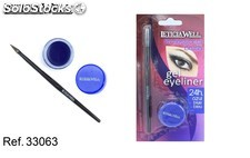 gel eyeliner azul profesional brush leticia well