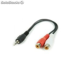 Gembird - CCA-406 0.2m 3.5mm 2 x RCA Negro, Rojo, Color blanco cable de audio