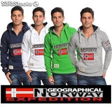 Geographical Norway męskie bluzy z kapturem