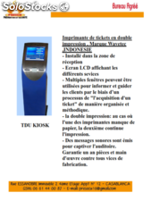 Gestion de File d'attente Imprimante de tickets en double impression