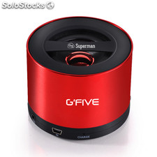 Gfive altavoz soundbox little superman 2, bluetooth, micro sd, color rojo