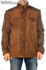 Giacca in pelle Gerome Quilted Jkt marrone