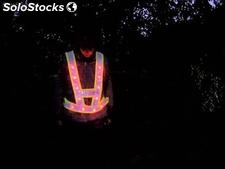 Gilet de chantier de sécurité fluorescent à led