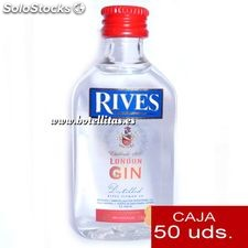 Ginebra Rives London Gin 5cl caja de 50 uds