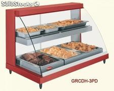 Glo-ray designer heated display cases GRCDH-3P