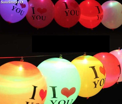 Globos con luz led I Love You para Bodas  37111db6411