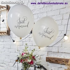 Globos Just Married. Globos originales para boda