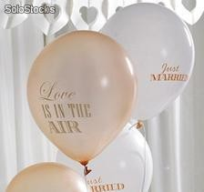 Globos Oro y Marfil Love is in the air