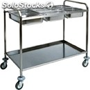 Gn pan catering trolley - mod. ca1387 - stainless steel structure - soundproof