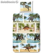 Good Morning Funda de edredón 5511-A DINOSAUR 140x200/220cm multicolor