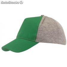 Gorra 5 paneles UP TO DATE , verde oscuro, gris