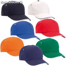 Gorra five color azul royal, marino, naranja, natural, negro, rojo y verde