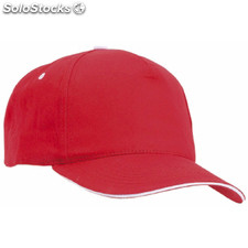 Gorra five color: rojo