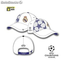 Gorra Real Madrid Adulto Champions Rejillas