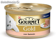 Gourmet gold mousse salmon ud.