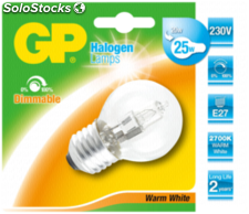 GP Lighting Mini globo halógeno E27 20W(25W) blanco cálido 170lm