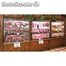 Grade aisi 304 stainless steel refrigerated back counter display - ventilated