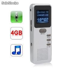 Gravador de voz Telefone Digital Mp3 Player 4GB