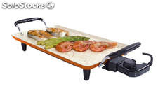 Grill électrique Iron electric Teppanyaki 42 x 24 ceramic Natural Stone Tekno