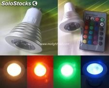 Gu10 rgb 16 Colores Focos led ac85-265v Lampara Multicolor led