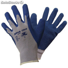 Guante algodon latex supergrip azul 8
