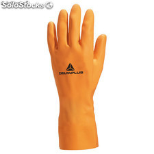 Guante latex industrial naranja