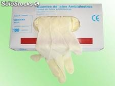Guantes de latex talla mediana