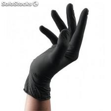 Guantes latex negro medianos