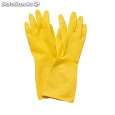 Guantes medianos amarillo palido latex