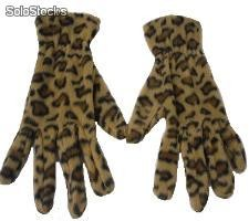 Guantes mujer leopardo