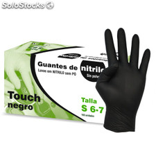 Guantes nitrilo touch negro