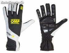 Guantes omp ks-3 negro/blanco/fluo amarillo sz 4 (for children)