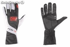 Guantes omp ks-3 negro/blanco/orange talla 5 (for children)