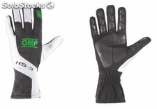 Guantes omp ks-3 negro/blanco/verde talla 5 (for children)