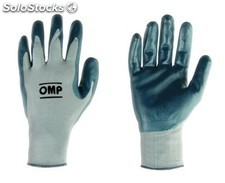 Guantes omp mechanic's azul talla l pacaging of 10 pieces