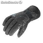 Guantes salomon force dry w negro azul mujer