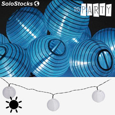Guirnalda Solar con Farolillos Blancos Th3 Party (10 LED)