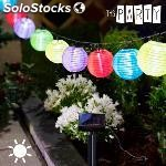 Guirnalda solar con farolillos de colores TH3 party (10 led)