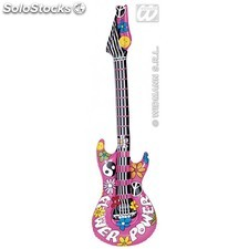 Guitarra inflable flower power