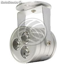 Handheld LED Spotlight 3W cold white day 55x85mm (NG63-0002)