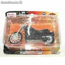 Harley davidson 2008 fxstb night train escala 1/18 maisto moto